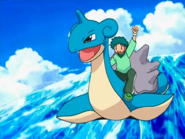 Pokémon Go Catch a Water-Type Pokemon Carrying a Backpack